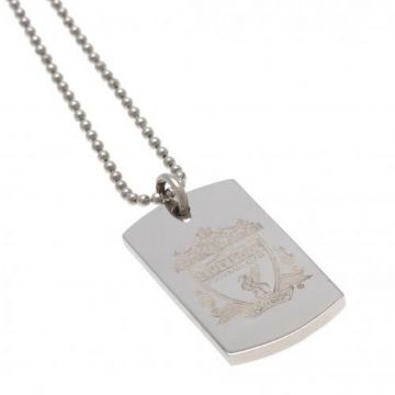 Liverpool FC Dog Tag & Chain with Engraved Crest CR
